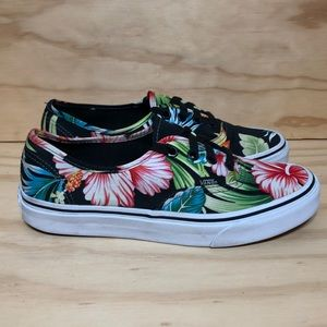 Vans Hawaiian Floral Low Black Size 7.5